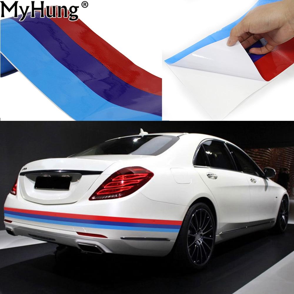 Car Body Sticker For Bmw M Flag Stripe For Bmw Z4 I8 X5 X6
