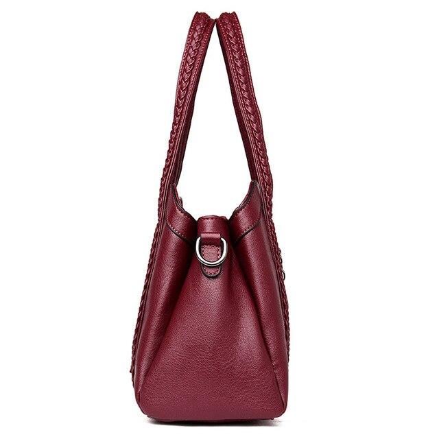Women Handbag Genuine Leather Tote Bags Tassel Luxury Women Shoulder Bags Ladies Leather Handbags Women Fashion Bags 2018 4