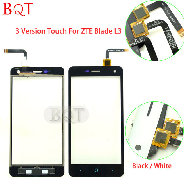 A melhor qualidade para o zte l3 vidro toque digitador da tela de toque para zte blade l3 t120500e1v1.1 e t120481e1v1.0 e hw-243 v1.0