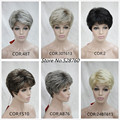 Fluffy short straight hair brown Wigs 10 colors to choose women's Natural Hair wig Free shipping