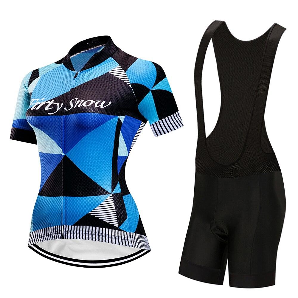 Firty снег 2018 Велосипеды Джерси женские летние Рубашка с короткими рукавами набор велосипед одежда цикл одежда спортивная MTB ropa ciclismo