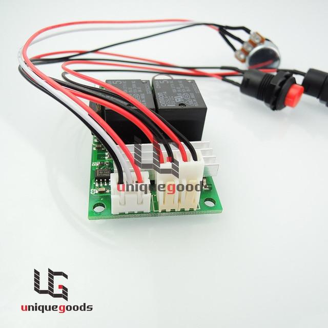 Dajustable schwarz positive Umkehr schalter taster pwm dc motor ...