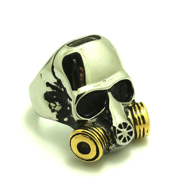 316l stainless steel cool silver golden gas masks skull ring in 316l stainless steel cool silver golden gas masks skull ring voltagebd Images