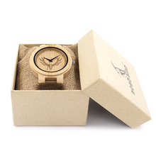 BOBO BIRD Brand Quartz Mens Watches Top Luxury Bamboo watch for Men Leather Strap Wood Wristwatch