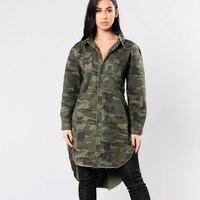 Chaqueta de Las Mujeres Suelta Blusas Abrigos Coat Chaqueta Militar Camuflaje Tradicional Mujers Abrigo Verde Militar Chaquetas Mujer