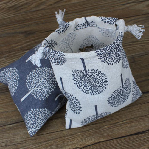 Happy Tree Cotton Linen Drawstring Pouch 10x15cm 4 x 6 pack of 100 Party Candy Jewelry
