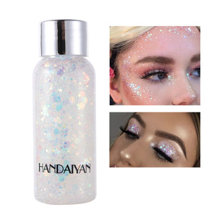 Image 3 - Eye Face Glitter Makeup Nail Hair Glitter Gel Flash Heart Loose Sequins Cream Body Glitter Decoration For Festival Party TSLM2
