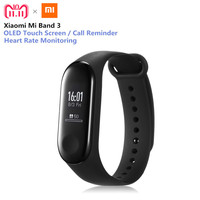Original Xiaomi Mi Band 3 Smart Bracelet Heart Rate Monitor Bluetooth 4.2 Wristband 0.78 OLED Touchscreen Wristband English Ver