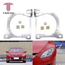 Taochis Auto-Styling cornice modulo adattatore Supporto Della Staffa FAI DA TE per la nuova Mazda 6 Hella 3 5 lente Del Proiettore fissare faro