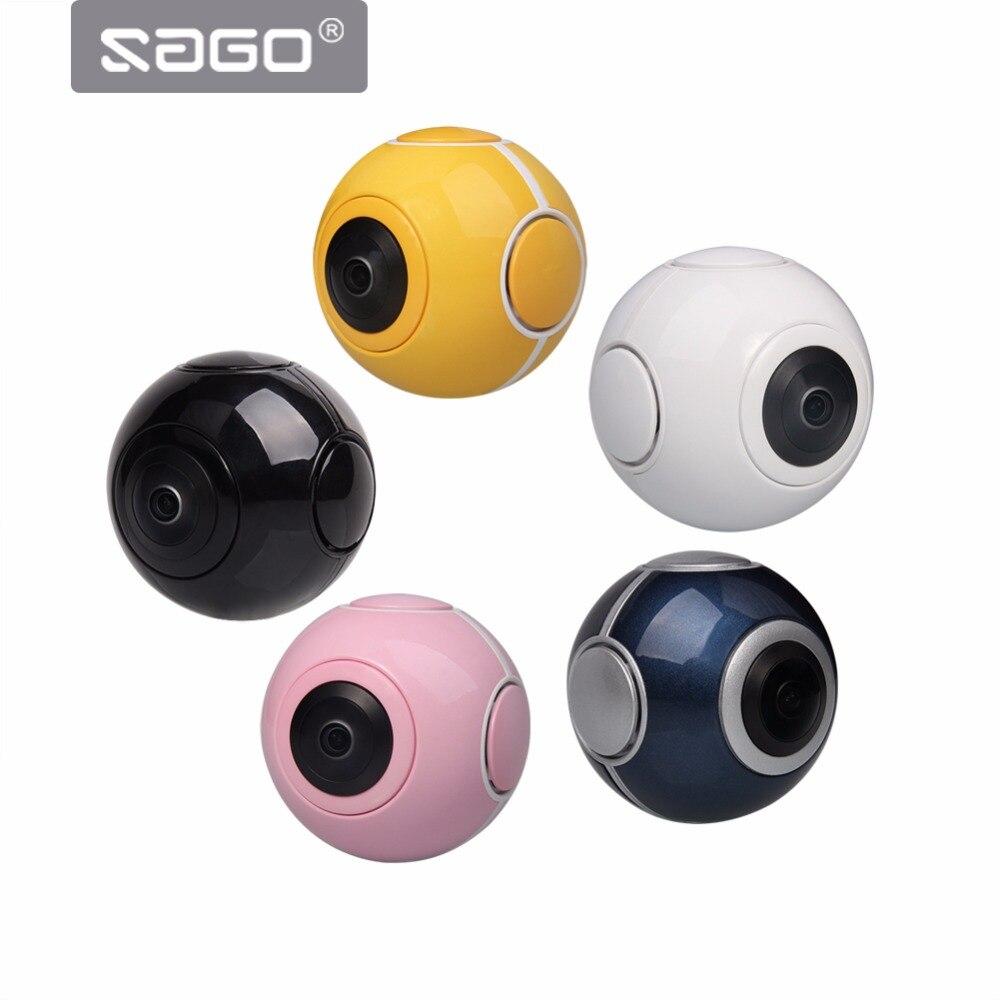 SAGO mini 360 video camera VR Panoramic Camera portable pocket Camera Dual Lens for Type-c/Micro usb phones PK insta 360 air