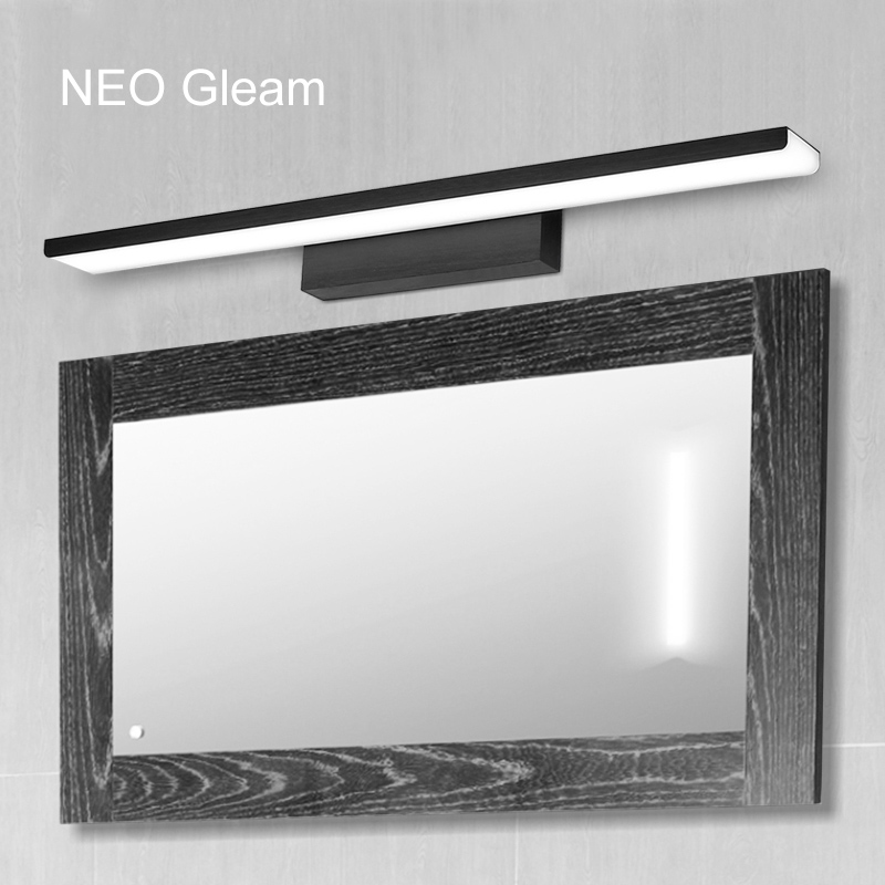 NEO Gleam Bedroom Bathroom LED Mirror Light AC110-240V White/Black/Gold Wall Lamps Aluminum Modern Makeup Mirror Lights 40cm 12w acryl aluminum led wall lamp mirror light for bathroom aisle living room waterproof anti fog mirror lamps 2131