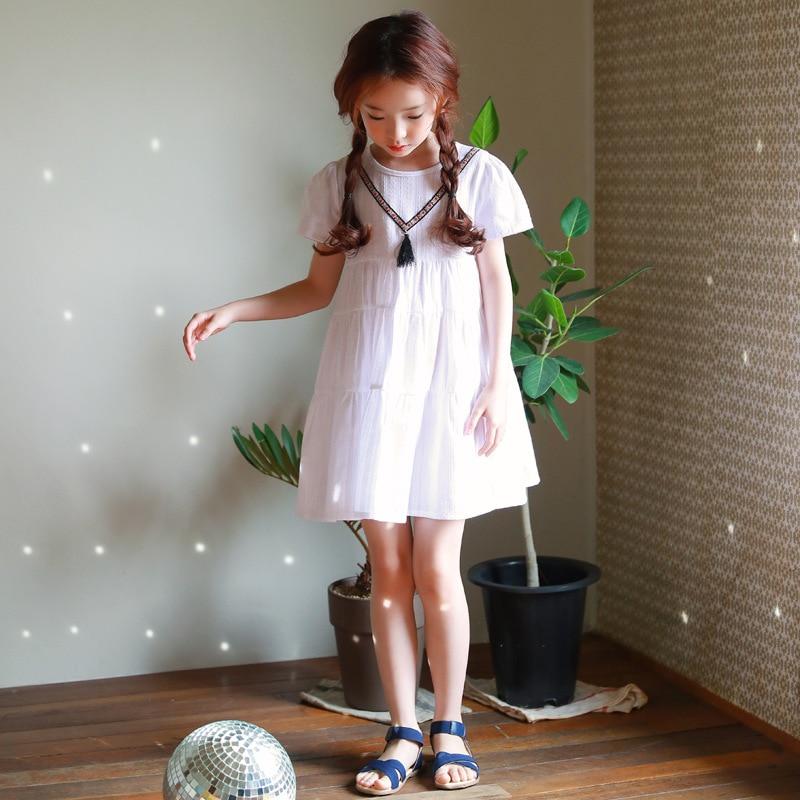 Korean New 2018 Princess Baby Dress Girls Summer Kids Cotton Dresses Brand Children Girl Dresses Toddler Clothes,#2664