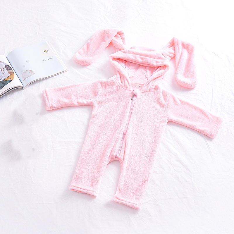 cb54a7b4c66 New Autumn winter Baby Rompers Cute Cartoon Rabbit Infant Girl Boy Jumpers Kids  Baby Outfits Clothes newborn thick warm jumpsuit Tags