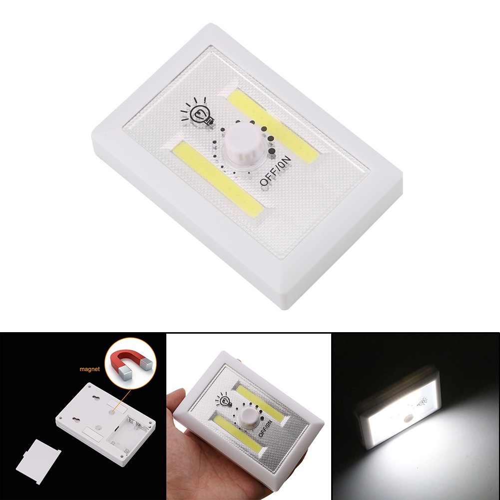 Magnetic 2 COB Wireless Wall Light LED Mini Night Light Ultra Bright With Switch Magic Tape For Camp Lamp Indoor Light