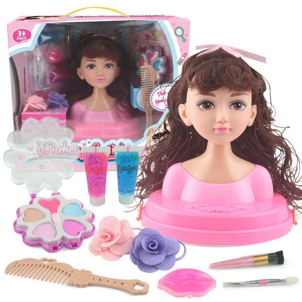 Children's Dressing Makeup Simulation Dolls Girls Play House Toys Girls Dress Up Combs Hair Braiding Dresser Toys