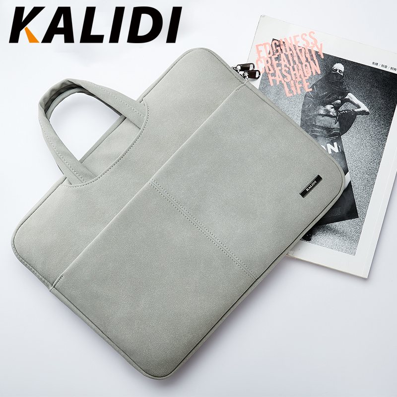 KALIDI Waterproof Laptop Bag 13.3 14 15 15.6 Inch Notebook Bag Handbag For Macbook Air Pro 13 15 Dell Asus HP Acer Bag Men Women
