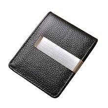 Новые модные однотонные Пояса из натуральной кожи Для Мужчин's Зажимы для денег кошелек коричневый, черный кошелек бумажник для мужчин
