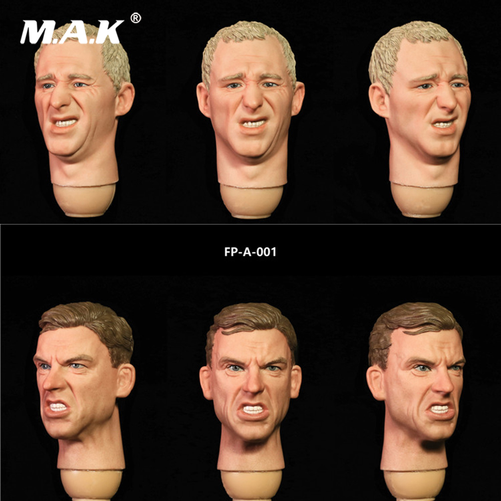 1/6 Scale Male Head Sculpt with Expression Model Toys FP-A-001/ FP-S-001 for 1:6 Man Action Figure Body Accessory dragon 2 0 male action figure model toys 1 6 scale dark light colors solider body model about 25cm for 12 man head sculpts