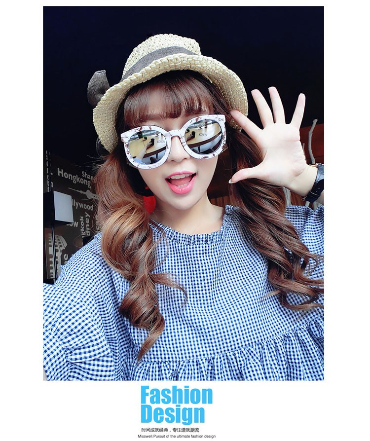 HTB1oRt9LVXXXXa7XVXXq6xXFXXXR - Marbling Sunglasses Women Round Frame PTC 268