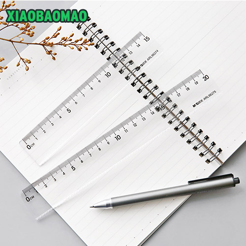 15cm 20cm Simple And High Quality Plastic Transparent Straight Ruler Tool Gift Stationery School Office