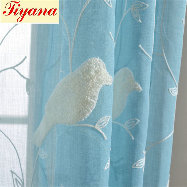 Bird pattern 3D embroidery good quality good Drape feeling ...