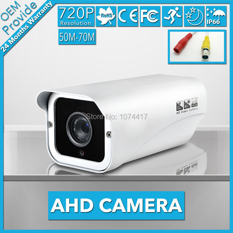 AHD4100PH-TE CCTV Camera 720P High Definition Waterproof Infrard Night Vision indoor /Outdoor AHD security camera For H.264 AVR ahd4100lh te 4 big led 720p high definition ahd 1 0mp good night vision outdoor 70m cctv ahd surveillance camera with big lens