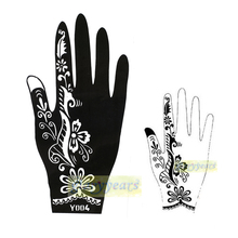 1pc Professional Big Mehndi Diamond Powder Diy Tool Henna Glitter Temporary Tattoo Stencil Women Body Hand Paint Templates Y004