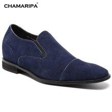 CHAMARIPA Elevator Shoes Men 7cm 2 76 inch Increase Height Gentlemen Dress Shoe Stylish Hidden Heel