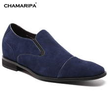 CHAMARIPA Increase Height 7cm/2.76 inch Gentlemen Elevator Shoes Dress Shoes Stylilsth Tall Men Shoes Height Incrasing