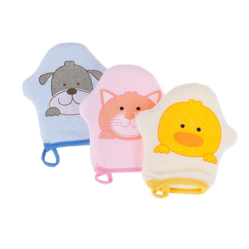 Новые Модные Детские Банные полотенца с мультяшным рисунком, аксессуары, супер мягкие детские банные щетки из хлопка для детей, перчатки дл...