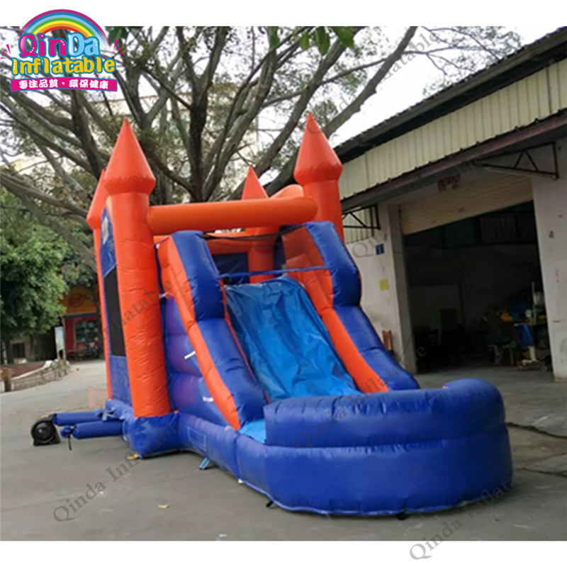 7*4*4m inflatable bouncy castle with slide,0.5mm PVC inflatable princess carriage bed for outdoor playing