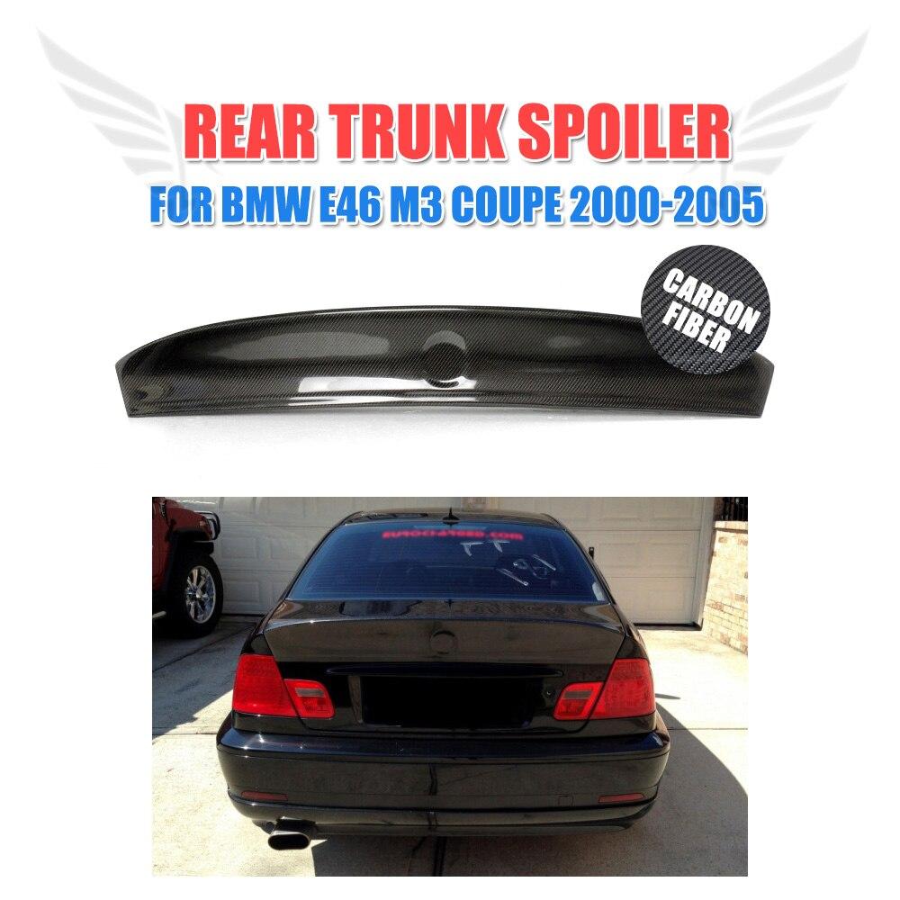 E46 2-Door CSL Carbon Fiber Trunk Spoiler Wing For BMW E46 Coupe M3 2001-2005 Boot Spoiler Car Styling