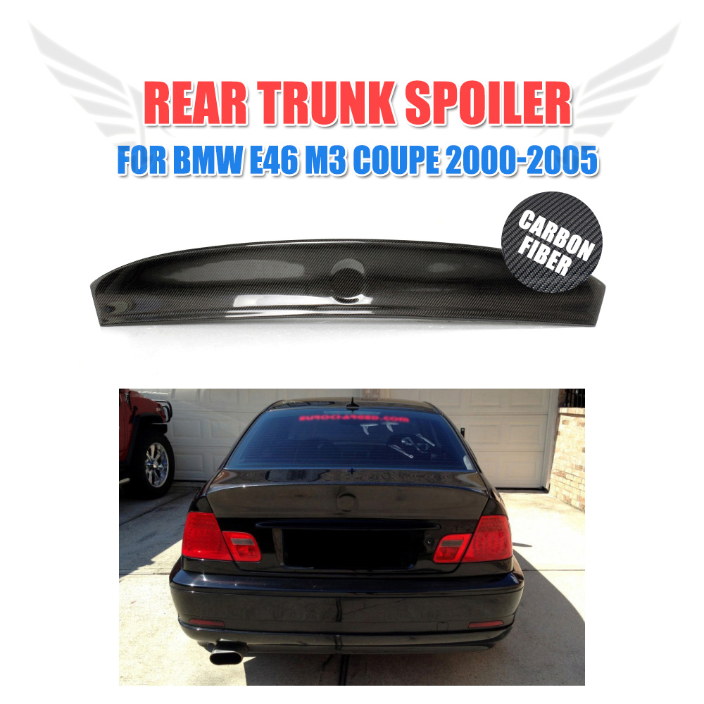 E46 2-Door CSL Carbon Fiber Trunk Spoiler Wing For BMW E46 Coupe M3 2001-2005 Boot Spoiler Car Styling