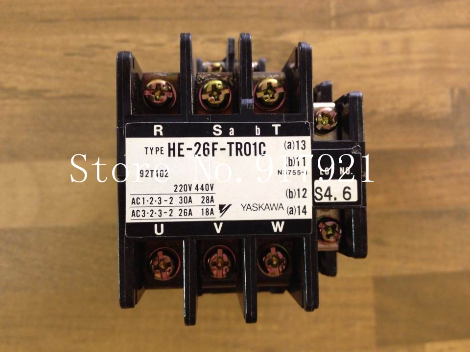 [ZOB] YASKAWA Japan Yaskawa HE-26F-TR01C contactor 220V28A 92T402 original is the mouth --2pcs/lot [zob] japan s yaskawa h1 7e5ns 220v 4a 20a yaskawa ac contactor genuine original 3pcs lot