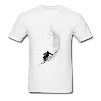 Snowboards Surfer Powder Design Tops Shirts Leisure Tops & Tees Adult Short Sleeve New T Shirts Funny White Brand Tops T-Shirt