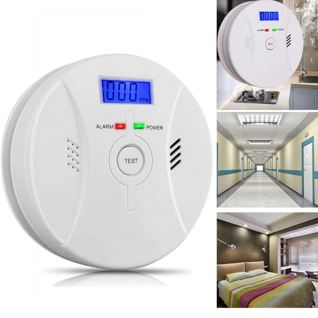 Combination Carbon Monoxide Smoke Alarm Poisoning Sensor Detector