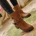 Botas de inverno mulheres Motocicleta botas zapatos mujer 2015 moda Dongkuan clássico plana com botas de inverno Mulheres