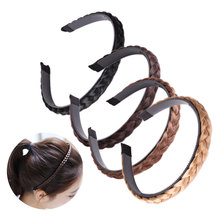 1PC Headband For Women Wedding Hair Bands Hairband Plaited Braided Hair Accessories 2019 Twisted Wig Braid Hairband Colorful цена 2017