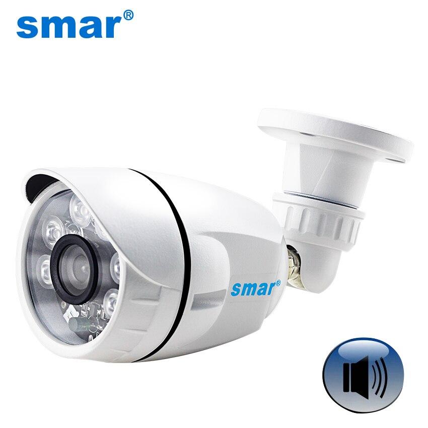Inteligente HD 720P HD 960P bala 1080P cámara IP Onvif Audio 2MP impermeable al aire libre CÁMARA DE CCTV apoyo micrófono externo camioneta