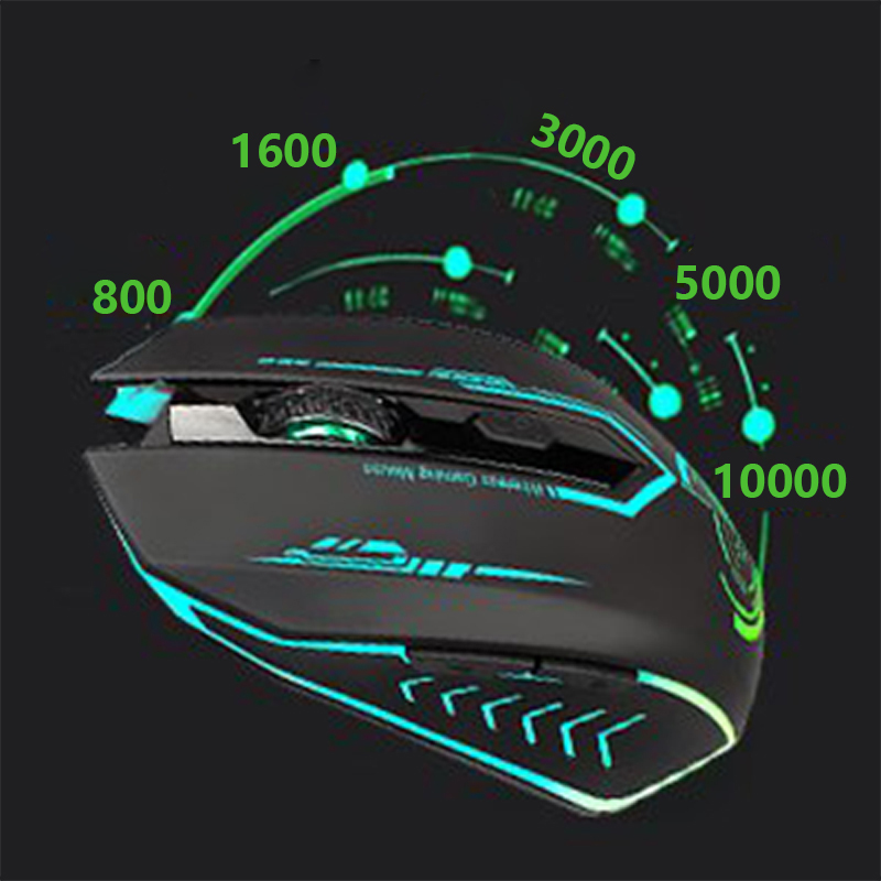 Image 4 - UHURU Gaming Mouse 2.4G Rechargeable Wireless 5 Buttons Changeable LED Color Ergonomic 10000 DPI PC Mouse for Computer Gaminggaming mousewireless gaming mouserecharger wireless -