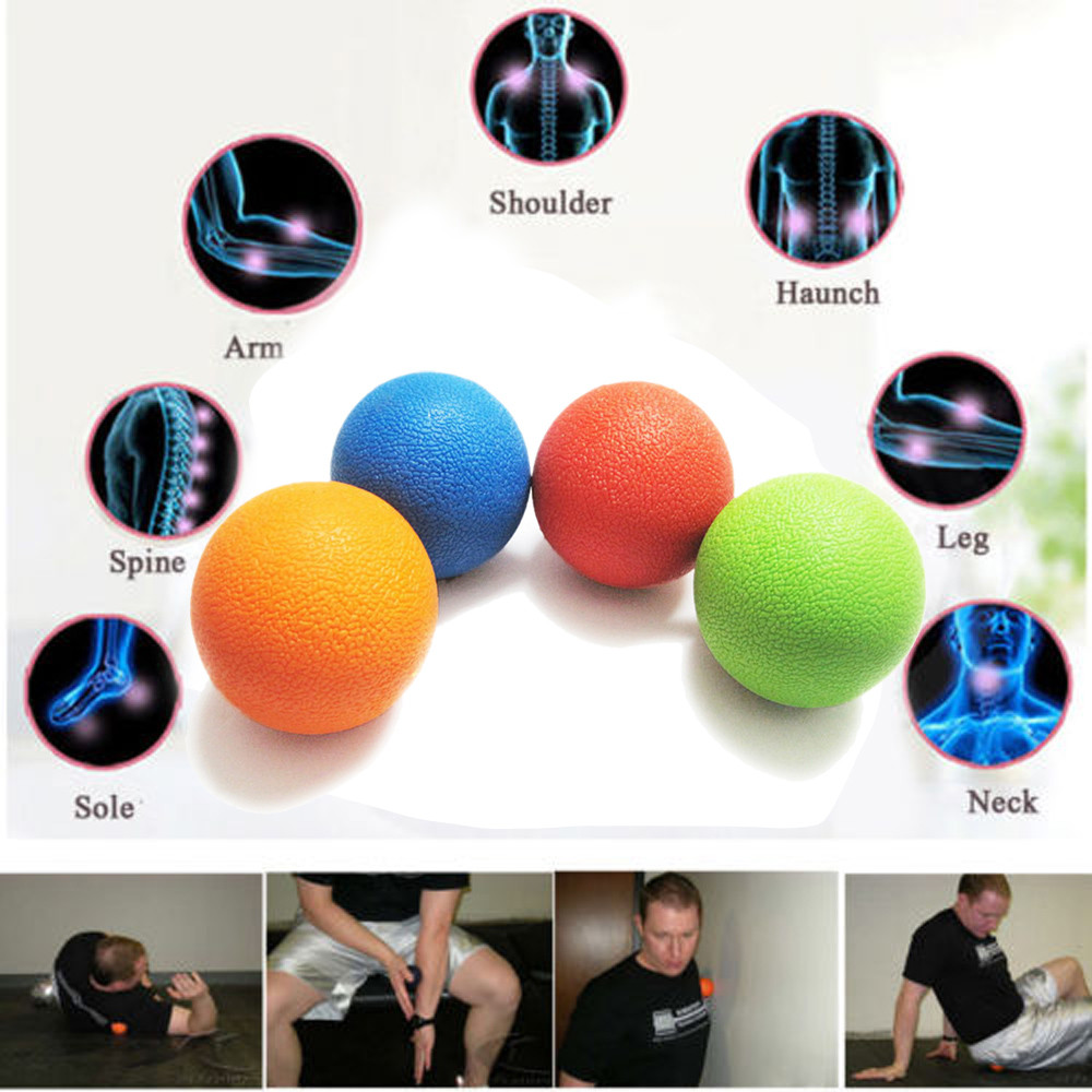 2017 1PC Lacrosse Ball Massage Ball Mobility Myofascial Trigger Point Body Pain Release AU31 gym crossfit fitness massage lacrosse ball therapy trigger full body exercise sports yoga balls relax relieve fatigue tools
