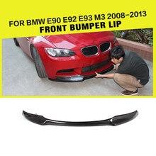 Углеродное волокно/FRP автомобильный передний бампер спойлер сплиттеры для BMW E90 E92 E93 M3 седан купе Кабриолет 2007-2013