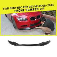 Carbon Fiber / FRP Car Front Bumper Lip Apron for BMW E90 E92 E93 M3 Sedan Coupe Convertible Cabriolet 2007 2013 V Style