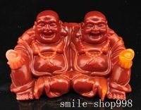 christmas Chinese Buddhism Artificial shoushan stone carved Maitreya Buddha yuanbao statue halloween