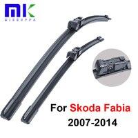 Silicone Rubber Wiper Blades For Skoda Fabia 2007 2008 2009 2010 2011 2012 2013 2014 Windshield