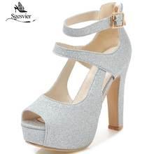 Женские туфли на толстом высоком каблуке с пряжкой размеры 31
