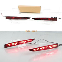July King LED Car Brake Lights, LED Rear Bumper Night Running Light, LED Rear Fog Lamp case for Hyundai Accent 2018, 7 Type