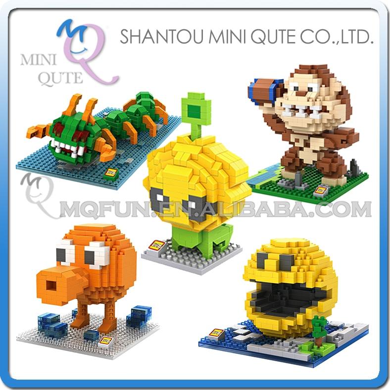 Mini Qute LOZ Kawaii 5 style cartoon movie Pixels centipede Diamond plastic building blocks brick kid model educational toy стоимость