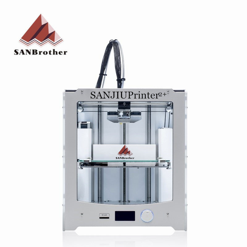 Новые 2018 SANJIUPrinter2 + 3D-принтеры DIY KIT Совместимость с Ultimaker 2 + UM2 + включены все Запчасти Одежда высшего качества