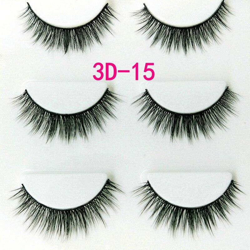 3Pairs/Box 3D Soft Multilayer False Eyelashes Fake Lashes ...